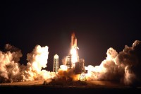 Nighttime Space Shuttle Discovery Launch