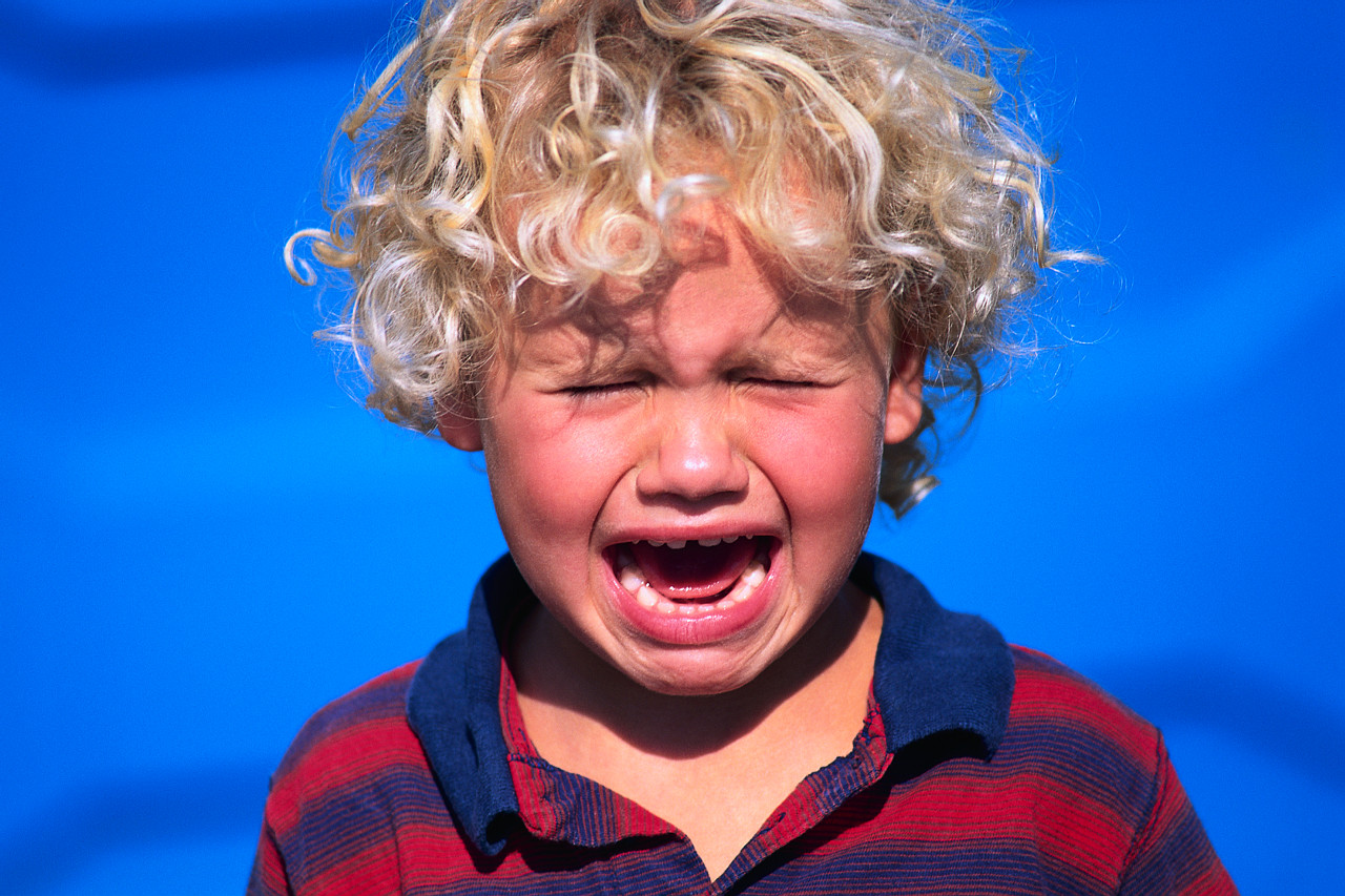 Crying may be a sign of overload in children